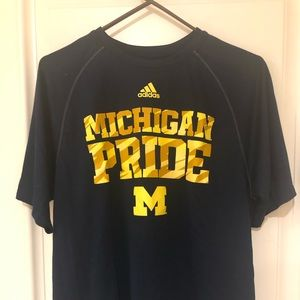 University of Michigan Adidas Climalite shirt